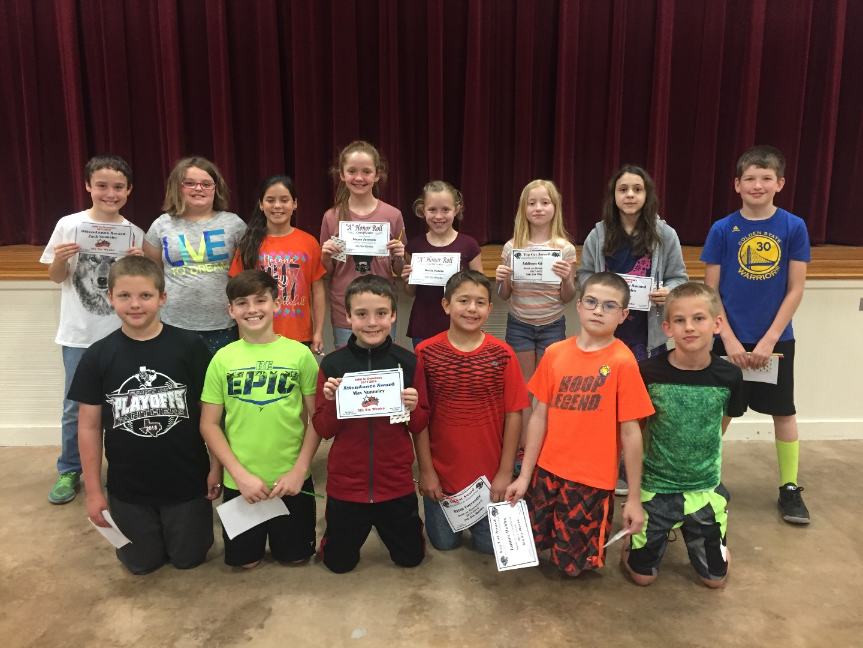 Saint Jo ISD - 5th Six Weeks Elementary Awards